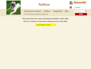 pug.rescueme.org screenshot