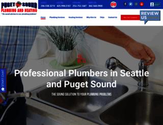 pugetsoundplumbing.com screenshot
