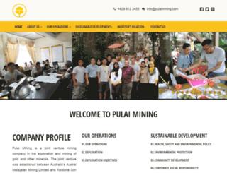 pulaimining.com screenshot