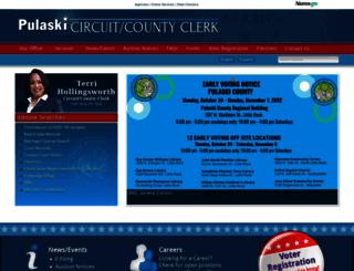 pulaskiclerk.com screenshot