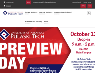 pulaskitech.edu screenshot