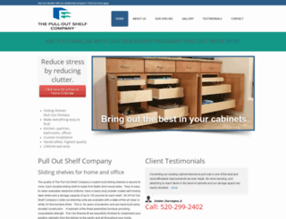 pulloutshelf.com screenshot