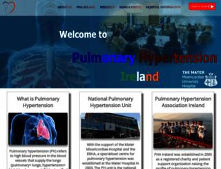 pulmonaryhypertension.ie screenshot
