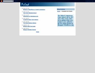 pulsed.blogspot.com screenshot