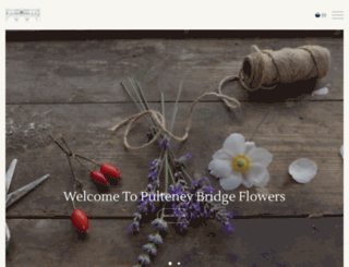pulteneybridgeflowers.co.uk screenshot