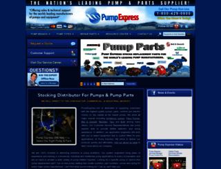 pumpexpress.com screenshot