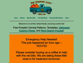 pumpkinlady.com screenshot