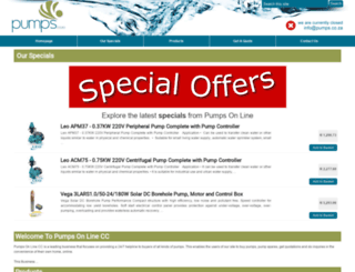pumps.co.za screenshot