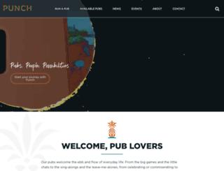 punchpubs.co.uk screenshot