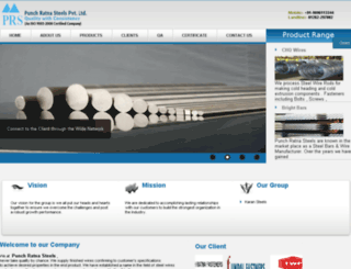 punchratnasteels.com screenshot