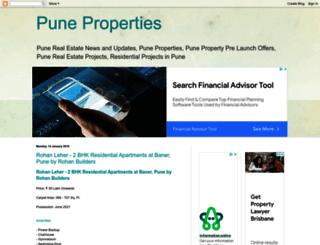 pune-real-estates.blogspot.in screenshot