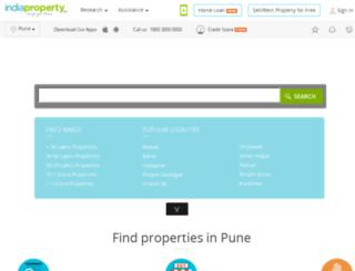 pune.indiaproperty.com screenshot