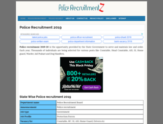 punjab.policerecruitments.in screenshot