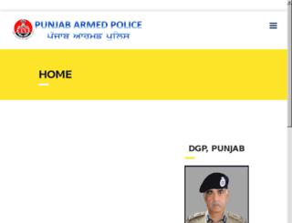 punjabarmedpolice.co.in screenshot