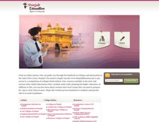 punjabeducation.net screenshot