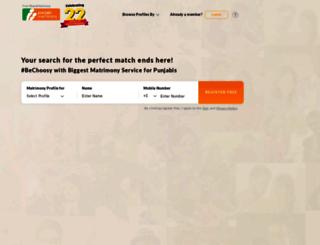 punjabimatrimony.com screenshot