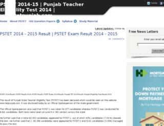 punjabstet.com screenshot