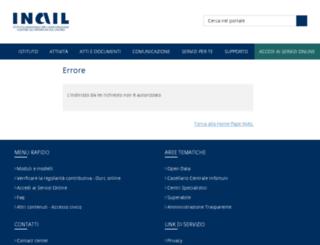 puntocliente2.inail.it screenshot