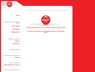 puntodeventa.claro.com.ar screenshot
