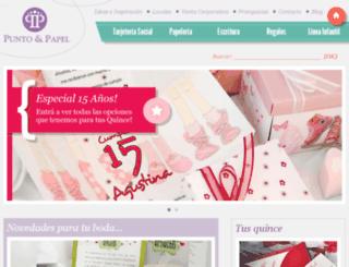 puntoypapel.com.ar screenshot