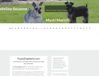 puppydogname.com screenshot