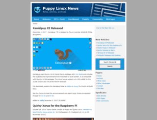 puppylinuxnews.org screenshot