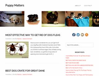 puppymatters.com screenshot