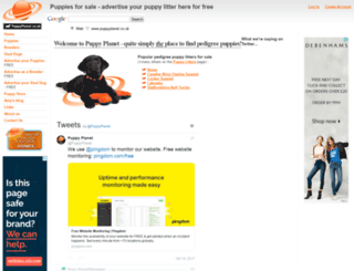 puppyplanet.co.uk screenshot