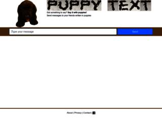 puppytext.com screenshot