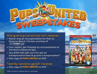 pupsunitedsweepstakes.com screenshot