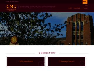 purchasing.cmich.edu screenshot