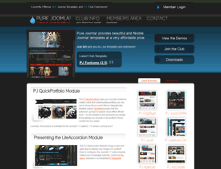 pure-joomla.com screenshot