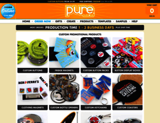 purebuttons.com screenshot