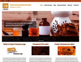 pureceyloncinnamon.srilankabusiness.com screenshot