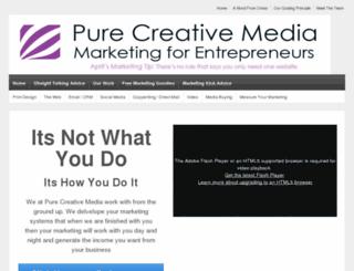 purecreativemedia.co.uk screenshot