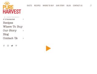 pureharvest.com.au screenshot