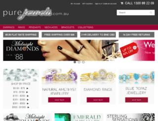 purejewels.com.au screenshot