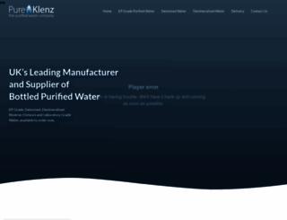 pureklenz.co.uk screenshot
