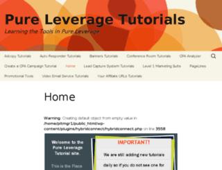 pureleveragetutorials.com screenshot