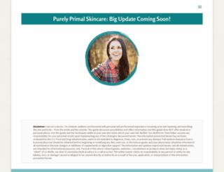purelyprimalskincare.com screenshot