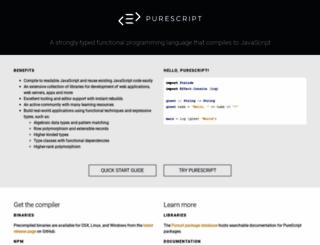 purescript.org screenshot