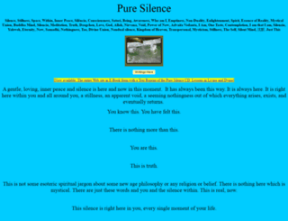 puresilence.org screenshot