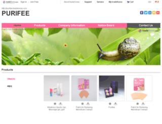 purifee.tradekorea.com screenshot