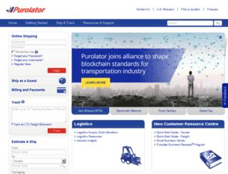 purolator.ca screenshot
