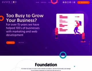 purplecowwebsites.com screenshot