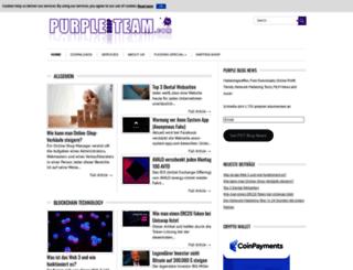 purpledropteam.com screenshot