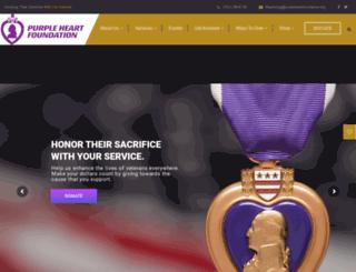purpleheartcardonation.net screenshot