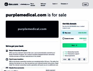 purplemedical.com screenshot