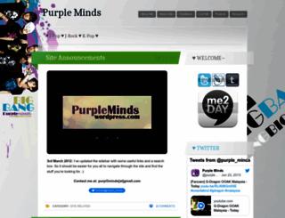 purpleminds.wordpress.com screenshot