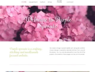 purplesprouts.com screenshot